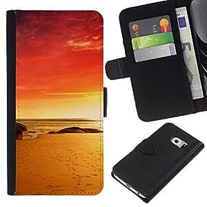 Stuss Case / Funda Carcasa PU de Cuero - Red Beach - Samsung Galaxy S6 EDGE