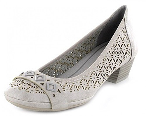 Marco Tozzi Light Grey Low Heel Court Shoe UK 6 - EU 39 - US 8 dJRlZ