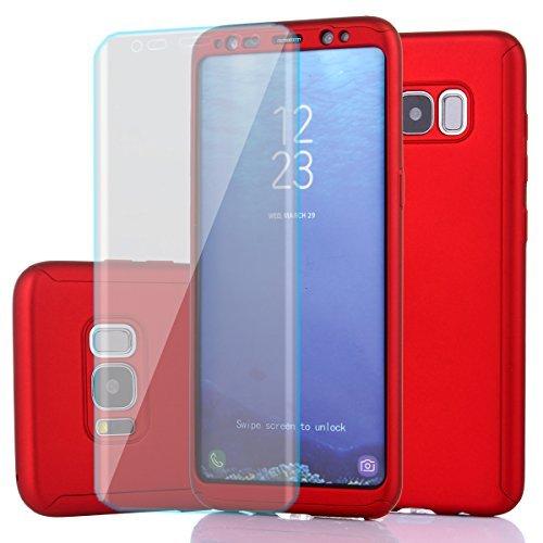 Carcasa para Samsung Galaxy S8, protección completa ultrafina, carcasa rígida para PC con un protector de visualización...
