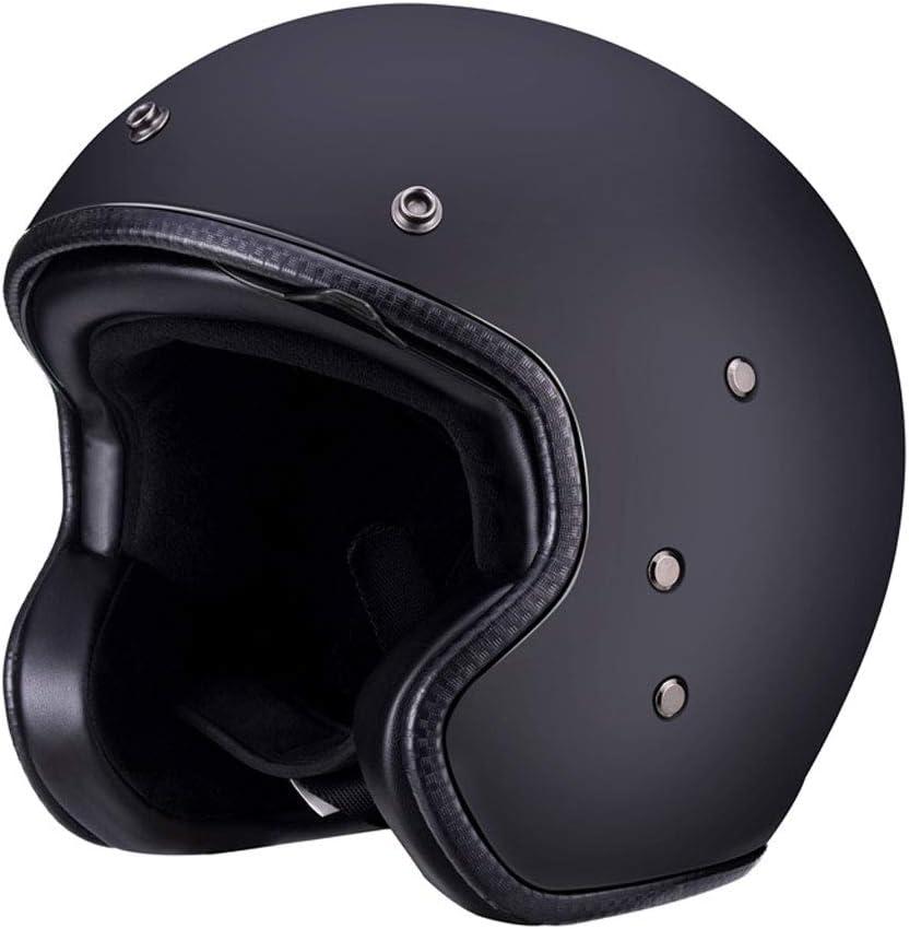 ZML FRPハーフカバーヘルメットレトロバイクプリンスヘルメットの男性と女性の四季ハーレーハーフヘルメット (サイズ さいず : XXL)  XX-Large