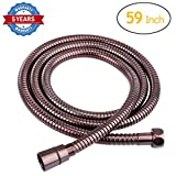 HOMEIDEAS Flexible Shower Hose Stretch 59-Inch to 79-Inch Stainless Steel Bathroom Toilet Shower Head Hose Handheld Showerhead Sprayer Extension Replacement,Oil Rubbed Bronze