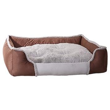 zhenghewyh Cama para Perros Gato Cesta Mascotas Pequeña Medio Grande Lavable (M, Marrón): Amazon.es: Productos para mascotas