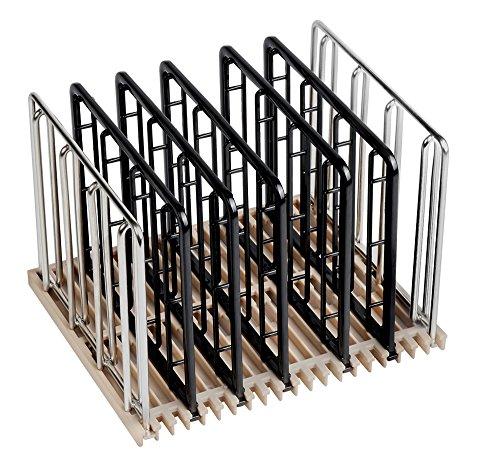 EVERIE Weight-Added Sous Vide Rack Divider for Sous Vide Even Heating, 5 Count Plastic Dividers and 2 Stainless Steel Sous Vide Weights, Black by V EVERIE (Image #6)