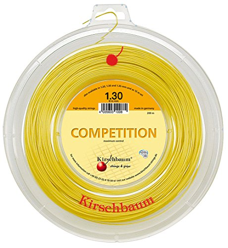 Kirschbaum Reel Competition Tennis String, 1.30mm/16-Gauge, Yellow