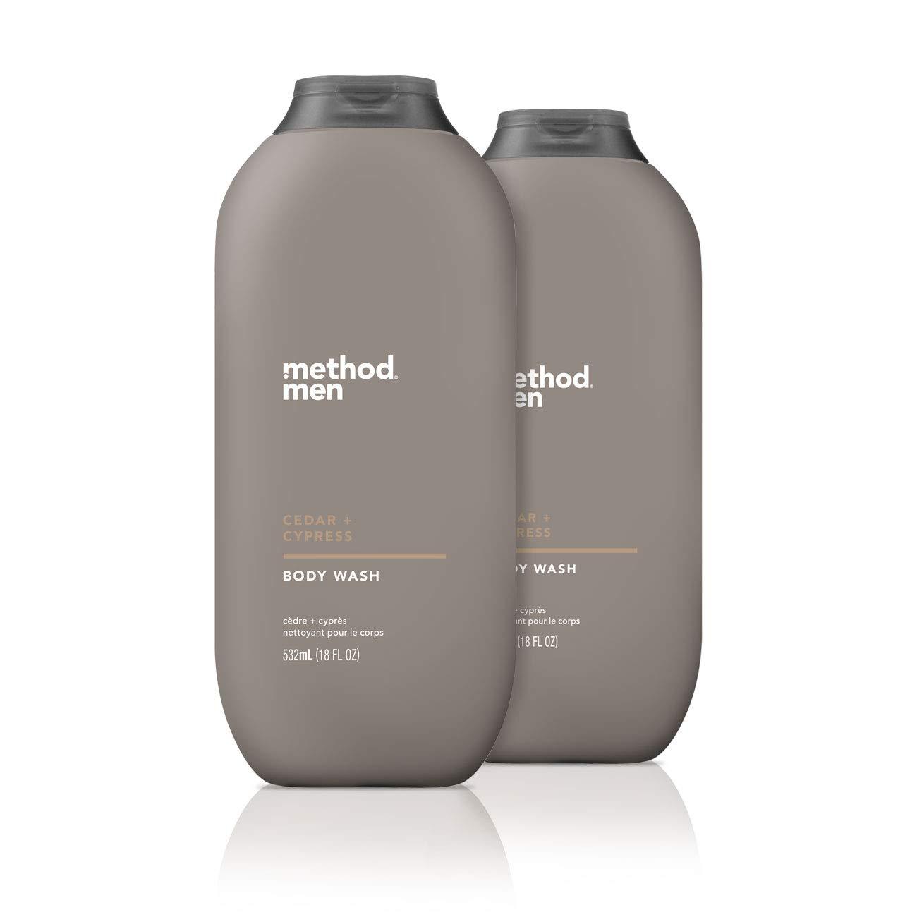 Method Men, Cedar + Cypress Body Wash, 18oz (2 Pack)