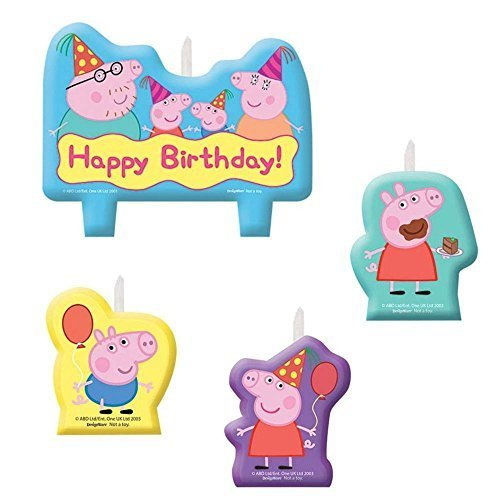 Peppa Pig Birthday Party Candle Set from Unbranded*