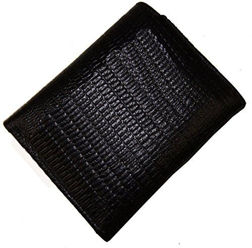 AG Wallets Genuine Leather Men's Snake Skin Embossed Trifold Wallet - Embossed Snakeskin Wallet