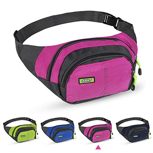 Fanny Pack Large Capacity Waist Bag with Adjustable Strap - Waterproof Fanny Packs Durable Waist Bags for Outdoors Sports Hiking Running Traveling Camping Fitness Fishing Biking for Men Women