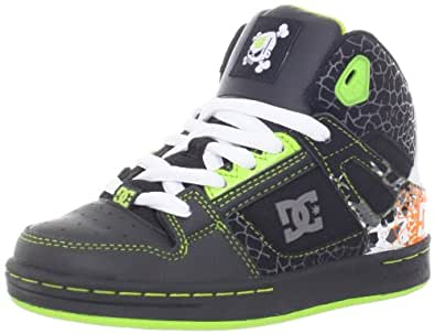 dc kids ken block rebound skate shoe toddler little kid big kid black soft lime. Black Bedroom Furniture Sets. Home Design Ideas