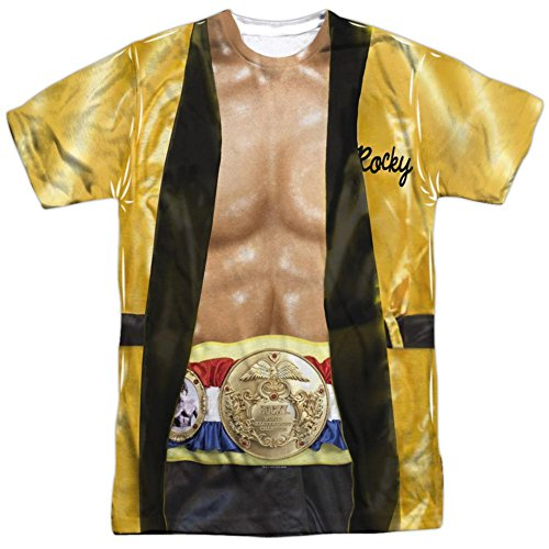 Rocky- Yellow Victory Robe Costume Tee T-Shirt Size -