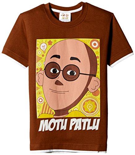 Motu Patlu Boys' T-Shirt (HST-2088_Rust_2 - 3 years)