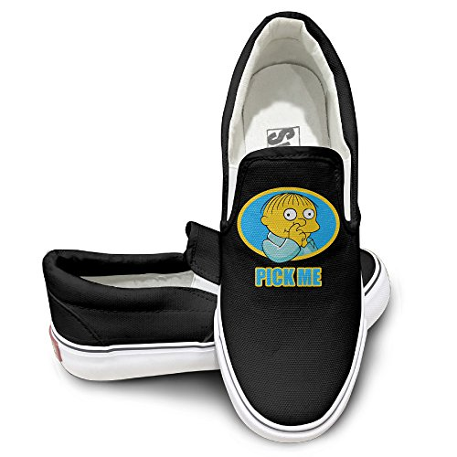 [TAYC The Simpsons Comfortable Flats-Shoes Black] (Boxtroll Shoe Costume)