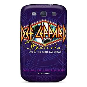 Shock Absorbent Hard Phone Cases For Samsung Galaxy S3 With Unique Design Beautiful Def Leppard Band Image AshleySimms