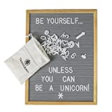 #2: Gray Felt Letter Board with 696 Letters, Numbers & Symbols 16 x 12 inch :: Changeable Letter Board for Quotes, Messages, Displays & More :: Hangs or Stands Alone:: Includes Bonus Storage Bags