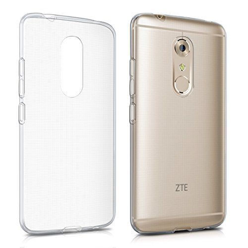 kwmobile Crystal Case for ZTE Axon 7 - Soft Flexible TPU Silicone Protective Cover - Transparent