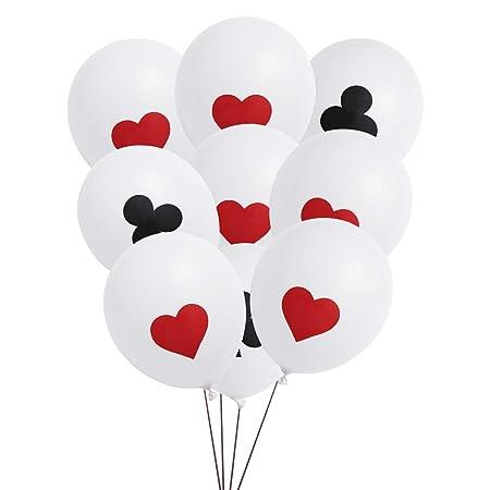 Amosfun - Lote de 24 globos de látex para tarjeta de disfraz ...