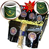 Carsten Reisinger - Illustrations - Flag of Mauritania waving in the wind - Coffee Gift Baskets - Coffee Gift Basket (cgb_175359_1)