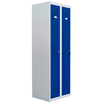 Pro Bau Tec pro bau tec doppelspind garderobenschrank blau 20005 amazon de