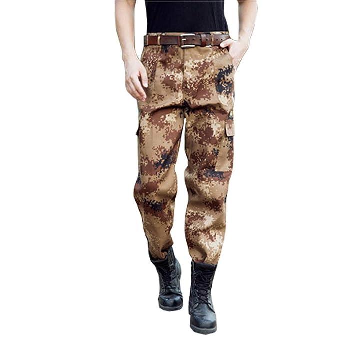 BOZEVON Pantaloni Mimetici - Uomo e Donna Allenamento Militare Formazione Pantaloni  da Lavoro di Grandi Dimensioni Resistenti All usura  Amazon.it  ... d1f3623e349