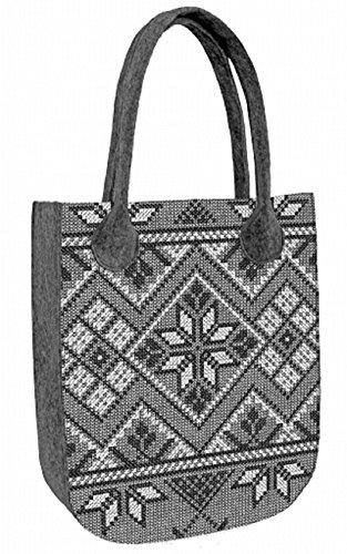 Shopper Filztasche Damentasche Handtasche Schultertasche CITY Pullover Grey