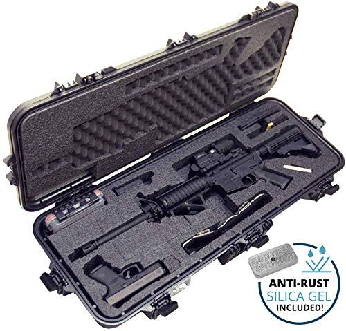 Case Club Pre-Cut AR15 Waterproof Rifle Case with Silica Gel & Accessory Box
