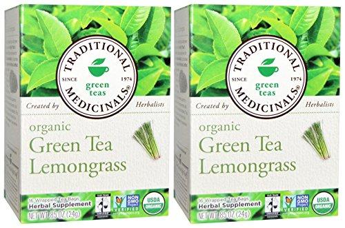 Traditional Medicinals Organic Green Tea with Lemongrass - 16 ct - 2 pk
