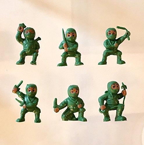 40 Green Mini Karate Ninjas Warriors Fighters Figures Cupcake Cake Toppers Ninja Kung Fu Guys Martial Arts Men Lot Party (Halloween Birthday Cakes For Men)