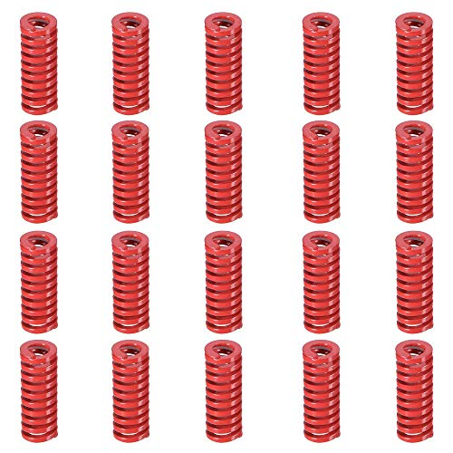 (Befenybay 20PCS 8mm OD 20mm Long Red Hot Bed Spring Mid Load Compression Mould Springs for 3D Printer (Red))