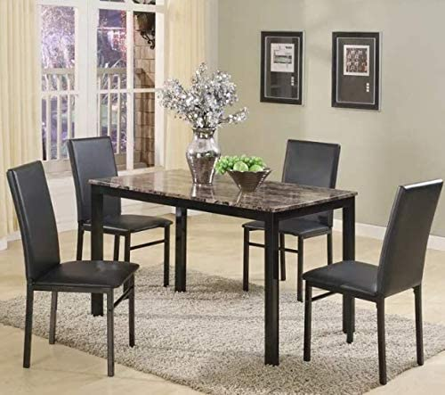 3. Best For Strong and Durable: Noyes 5 Piece Counter Height Dining Set