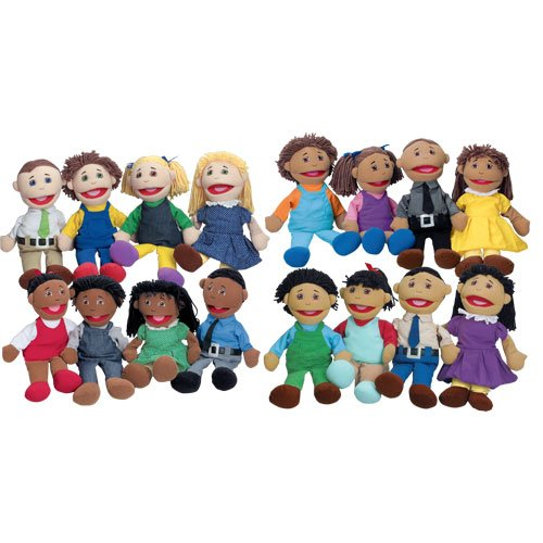 Full Bodied Open Mouth Puppets Set of All Four Families