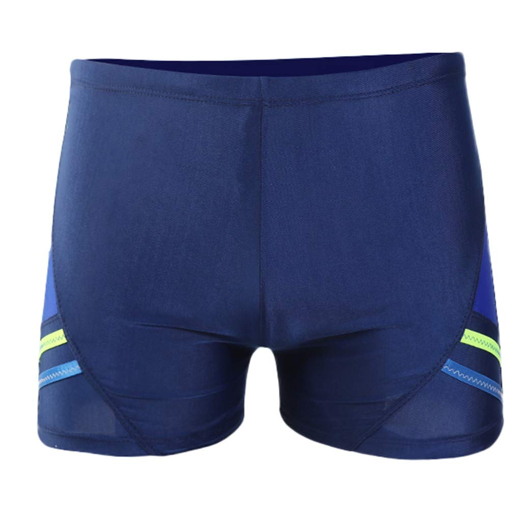 Summer Shorts Plus Size Simayixx Men Basic Swimming Trunk Surf Shorts Swimsuits Boxer Briefs Big and Tall Outdoor Pants Blue by Simayixx Blouse (Image #2)
