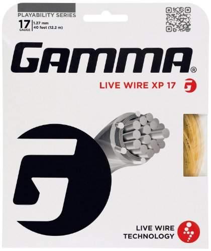 Gamma Live Wire XP 17G Tennis String, Natural
