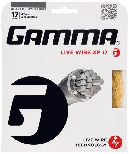 Gamma Natural Gut (Gamma Live Wire XP 17G Tennis String, Natural)