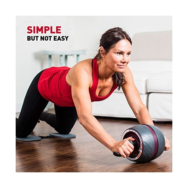 Perfect Fitness AB Carver Pro Roulette pour Abdominaux, Équipement de Fitness pour la Maison et la Salle de Sport, Noir…