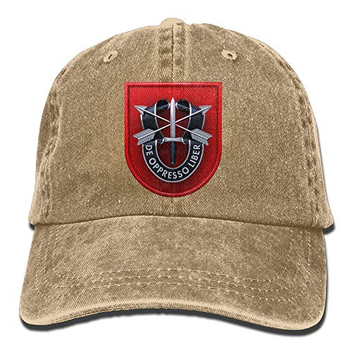 Endool 7th Special Forces Group Mens Cotton Adjustable Washed Twill Baseball Cap Hat