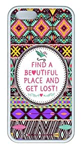 IMARTCASE iPhone 5S Case, Hipster Seamless Tribal Pattern Case for Apple iPhone 5S/5 TPU - White