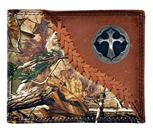 Custom New Badger Ornate Cross Realtree AP Realtree AP Camo Wallet Bi-fold