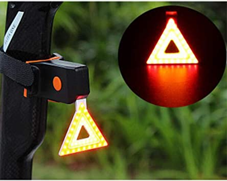 LED Luces para Bicicleta Luz Trasera para Bicicleta Luces de Seguridad Luz Trasera Ciclismo Modos múltiples Batería Ciclismo Al Aire Libre,Triangle: Amazon.es: Deportes y aire libre