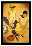 Tortilla Woman by Frank Kessel, Mexican Culture Art 24x36 Framed Poster (Z1-1093)