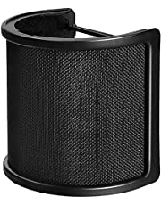 Pop Filter,PEMOTech [Upgraded Three Layers] Metal Mesh & Foam & Etamine Layer Microphone Pop Filter,Microphone Windscreen Cover,Handheld Mic Shield Mask for Vocal Recording,Youtube videos,Streaming