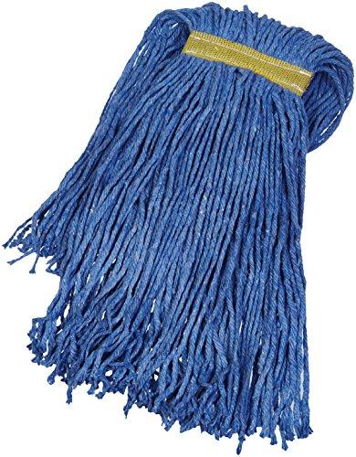 AmazonBasics Cut-End Cotton Commercial String Mop Head, 1.25 Inch Headband, Medium, Blue, 6-Pack from AmazonBasics