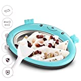 Mini Frozen Yogurt Instant Ice Cream Maker Pan for Kids DIY Fun Ice Plate for Ice Cream Rolls (Blue)