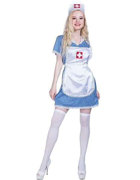 Amazon.com: dressvoguer disfraz de enfermera disfraces de ...