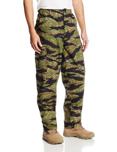 TRU-SPEC Men's Rip Stop BDU Pant - Large - Tiger Stripe ()