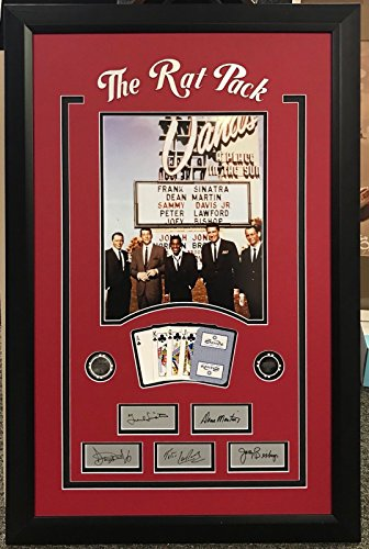 Framed The Rat Pack Laser Engraved Autographs Frank Sinatra Sands Casino Las Vegas Cards and Poker Chips 11x14 Photo Professionally Matted from Phanatic Sports Memorabilia