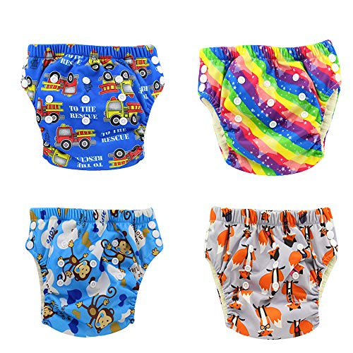 Training Pants Waterproof (Ohbabyka Waterproof Reusable Baby Diaper Training Pants, 4PCS (Training pants012))