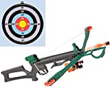 Bits and Pieces - Crossbow and Arrow Archery Target Game for Kids - Shoot Bow and Arrow Suction Cup Darts at the Bulls-Eye