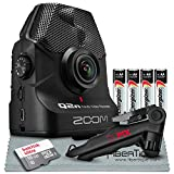 Zoom Q2n Handy Video Recorder Bundle with Tripod + 16 GB SD Card + AA Batteries + Fibertique Cleaning Cloth