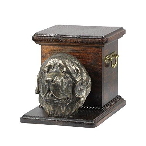 Newfoundland, memorial, urn for dog's ashes, with dog statue, ArtDog by Art Dog Ltd.