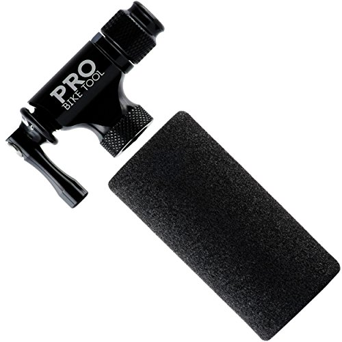 Pro Bike Tool CO2 Inflator - Limited Edition Black - Quick & Easy - Presta and Schrader Valve Compatible - Bicycle Tire Pump For Road and Mountain Bikes - Insulated Sleeve - No CO2 Cartridges Included by Pro Bike Tool